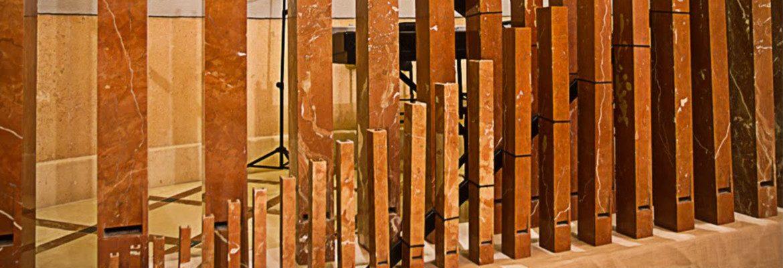 Registro de tubos del órgano de Novelda